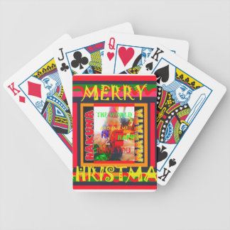 Merry Christmas The world around me is happy to ha Bicycle Playing Cards