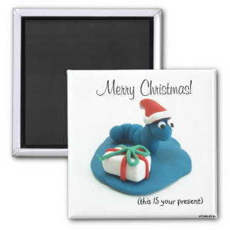 Merry Christmas (this IS your present) Refrigerator Magnet