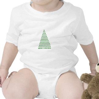 Merry Christmas Trees Baby Bodysuit