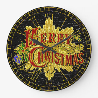 Merry Christmas Vintage Look Clock