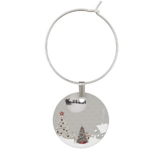 Merry Christmas Wine Charms
