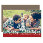 Merry Christmas with Love Photo Holiday Greeting Card