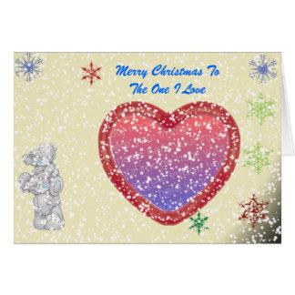 Merry ChristmasMe To You - Optional Snow Greeting Card