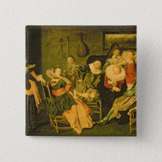 Merry Company 15 Cm Square Badge
