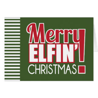 Merry Elfin Christmas Greeting Card