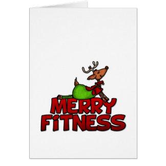 Merry Fitness - Yoga - Reindeer in Cobra Posture Greeting Card
