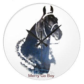 Merry Go Boy Large Clock