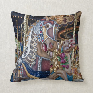 Merry-go-round carnival painted pony series 29 throw pillow