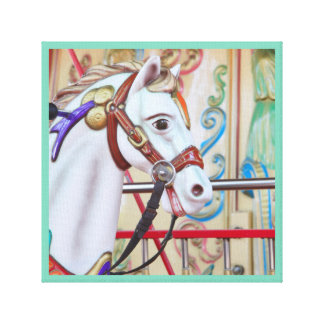 Merry-go-round Painted Horse Canvas 16 in a series