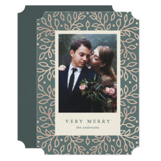 Merry Gold Photo Card
