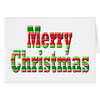 Merry Stripe MERRY CHRISTMAS Greeting Card