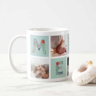 Merry Type   Holiday Photo Collage Mug