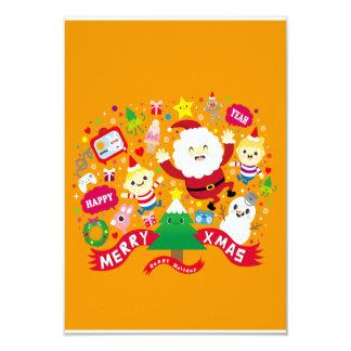 Merry Xmas 9 Cm X 13 Cm Invitation Card