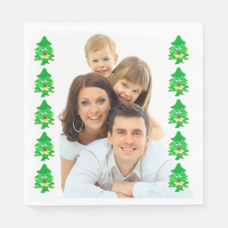Merry Xmas Christmas Tree Disposable Napkin