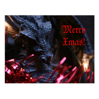 Merry Xmas Dragon Postcard