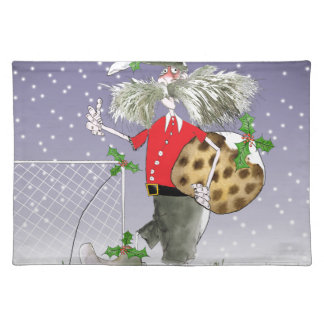 merry xmas football fans placemat