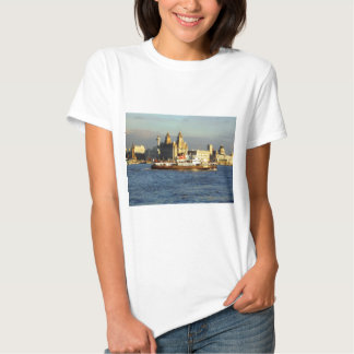 Mersey Ferry with the Liverpool Watefront beyond Tee Shirt