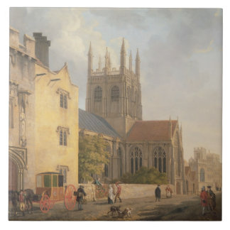 Merton College, Oxford, 1771 (oil on canvas) Tile