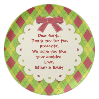 Message for Santa Christmas Cookie Plate