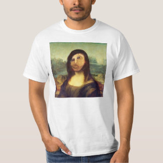 Messed up Mona Lisa face shirt