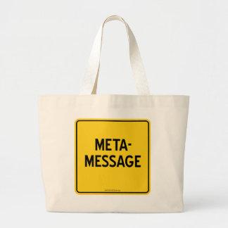 META-MESSAGE LARGE TOTE BAG