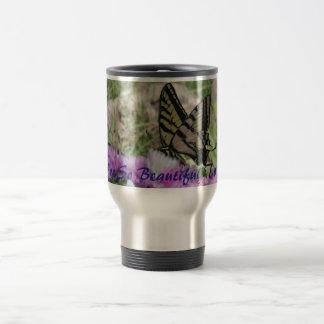 Metal Coffee Mug With Butterfly
