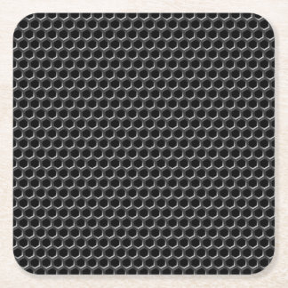 Metal grid pattern - background square paper coaster