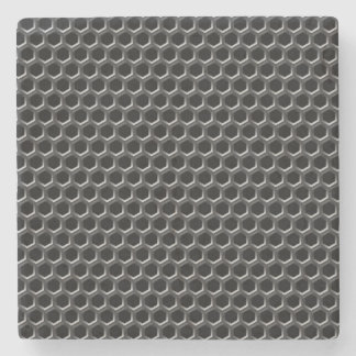 Metal grid pattern - background stone beverage coaster