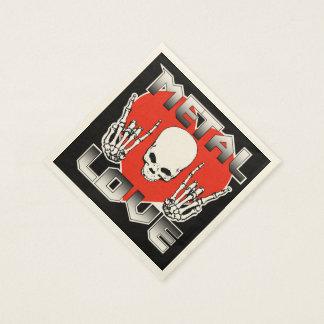 Metal Love Napkins Disposable Serviette