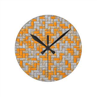 Metal rusty surface illustration round clock