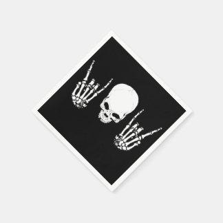 Metal Skull Napkins Paper Napkin