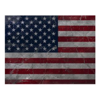 Metal Vintage Grunge American Flag Postcard