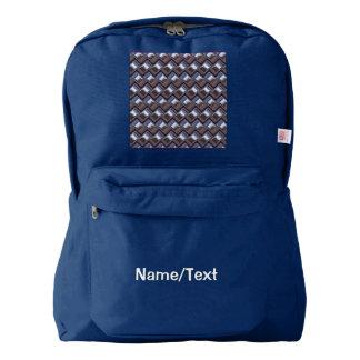 metal Weave blue (I) Backpack
