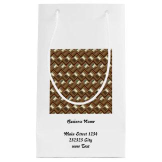 metal Weave golden (I) Small Gift Bag