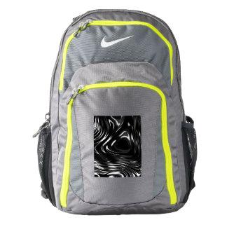 Metalic Liquid in Black and White Backpack