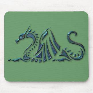 Metallic Blue Sea Dragon Mouse Pad