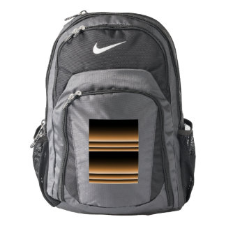 Metallic Bronze Copper Brown Ombre Stripes Backpack