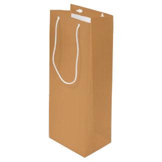 Metallic Bronze Wine Gift Bag