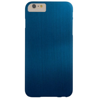 Metallic Deep Ocean Blue Barely There iPhone 6 Plus Case