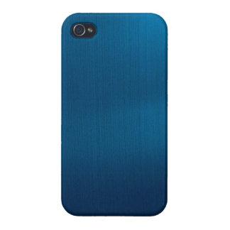 Metallic Deep Ocean Blue Case For iPhone 4