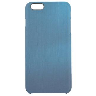 Metallic Deep Ocean Blue Clear iPhone 6 Plus Case