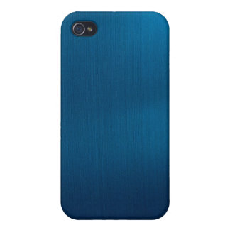 Metallic Deep Ocean Blue Cover For iPhone 4