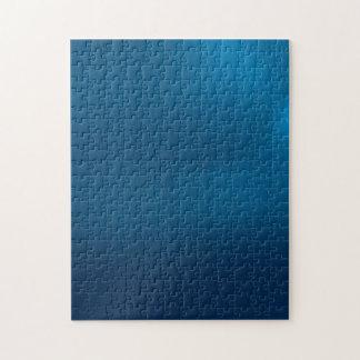 Metallic Deep Ocean Blue Puzzle