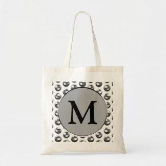 Metallic Monogram Tote Bag