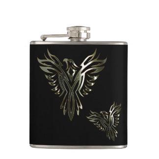 Metallic Phoenix Hip Flask