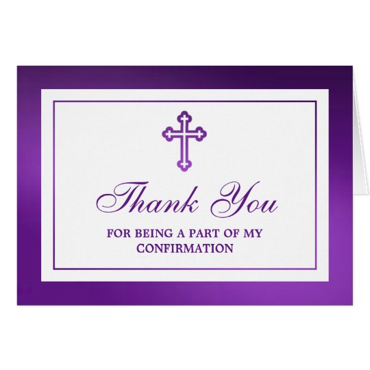 Metallic Purple Cross Holy Communion/Confirmation Card