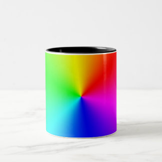Metallic Rainbow Two-Tone Coffee Mug