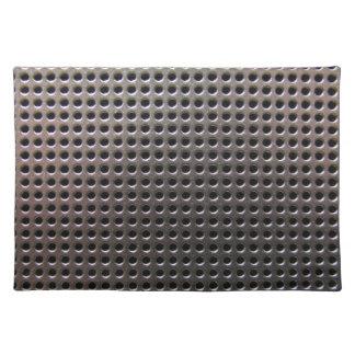 Metallic Steel Grid Pattern ~ placemat
