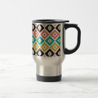 Mexican Aztec Tribal Print Ikat Diamond Pattern Mug