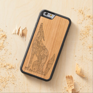 Mexican Coyote Howling at the Moon Cherry iPhone 6 Bumper